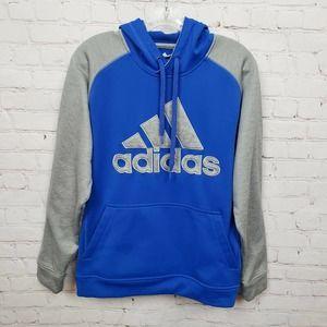 Adidas Youth Boys Climawarm Hoodie Sweatshirt Blue
